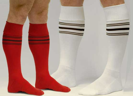 FOOTBALL-SOCKS-WHITE-YELLOW-BLACK-ROYAL-RED