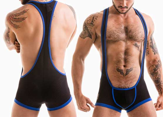 MESH-SINGLET-BLACKROYAL
